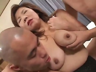 Asian Japanese Mature  Threesome