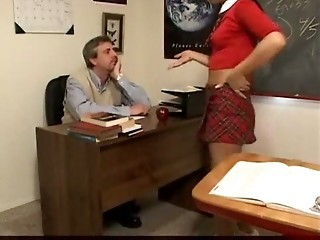 Tgirl Khloe Fucked by Teacher Bareback