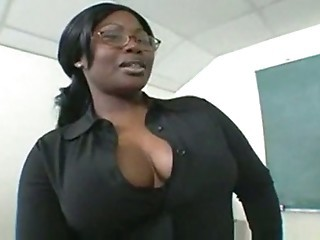 Big Tits Ebony Glasses  Natural School Teacher