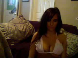 Busty Brunette Beauty Webcam Stripping.