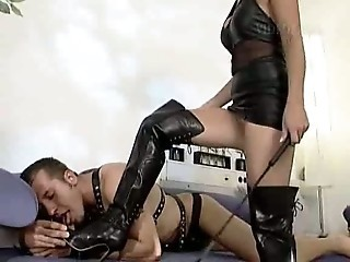 Blonde mistress and her slave, good fucking   german   csm