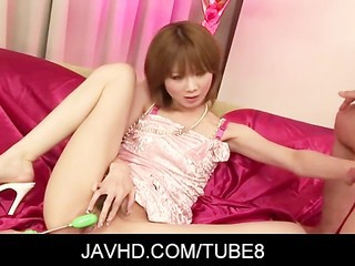 "Horny asian milf Rika Sakurai gets her flimsy pussy fingered"" class=""th-mov"