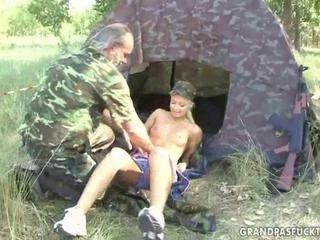 Army Daddy Old and Young Outdoor Teen