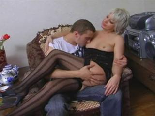 Amateur Legs  Mom Old and Young Stockings