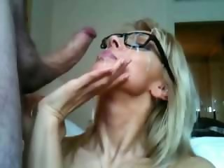 Cumshot Facial Girlfriend Glasses Webcam