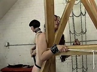 TV mistress abusing her slaves