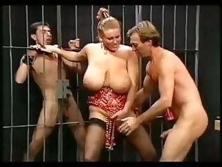 Big Tits  Natural Prison  Threesome Vintage