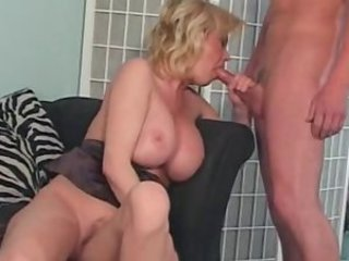 Big Tits Blowjob  Mom Old and Young