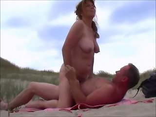 Amateur Beach Chubby Nudist Older Outdoor Riding Wife