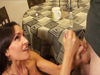 Sexy StepMom Gives Great Handjob