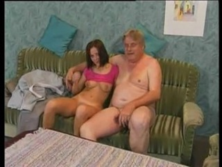 Old Man Takes Hairy Teen's Twat For A Ride