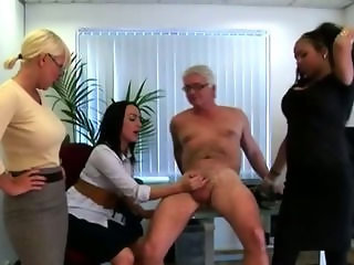 Three hot chicks with a need for mature cock in femdom