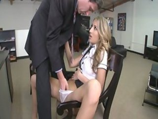 Secretary natalia rossi gets fucked in the ass for job secur