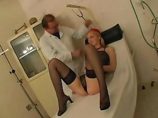 Blond examined by gyno