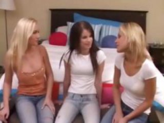 Cameron and friends get together for some hot lesbian threesome fun
