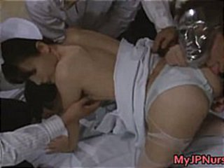 Cute Asian babe is a nurse having sex part5