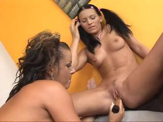 Lesbian Mature Old and Young Pigtail Teen Toy