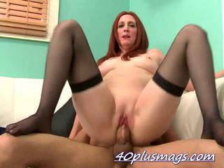 Mature Riding Shaved Stockings