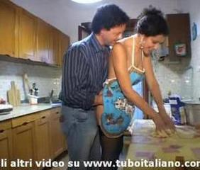 An italian housewife fucked to the fullest extent a finally she's channel on the way pasta