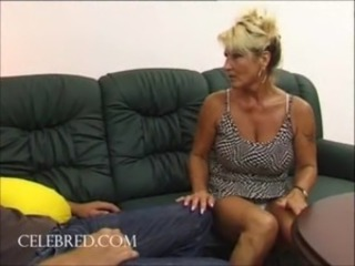 Fucking his aunt with his big cock hardcore hairy blowjob doggystyle mature...