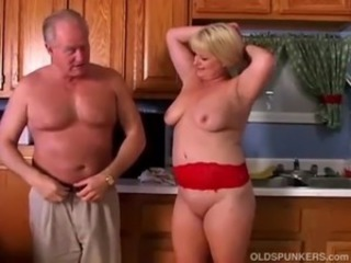 Chubby Daddy Kitchen Mature