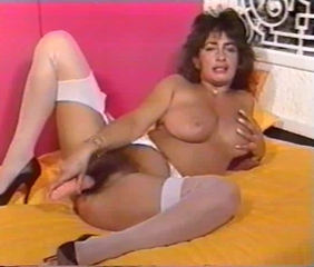Dildo Hairy Masturbating  Stockings Vintage
