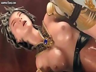 Gorgeous 3D-animated chick with short-hair gets brutally fucked