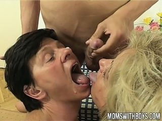 Young Boy Receives Real Thorough Sex Education From Twosome Moms