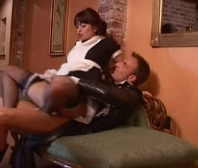 Kinky British maid