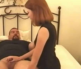 Hot Girl in black with nasty guy