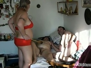 two matures are fucked by big white man part1
