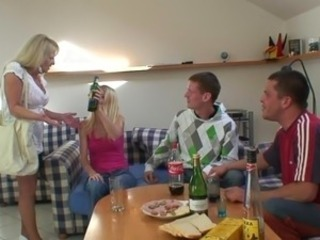 Partying blokes pound grandma from both ends