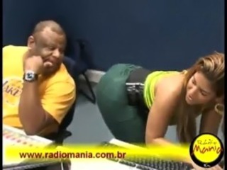 BRAZIIAN GODDESS WITH TIGHT WEDGED UP PANTS UP HER ASS SINGING AND DACING #2!...