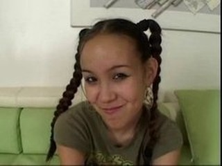 Asian Chinese Cute Pigtail Teen