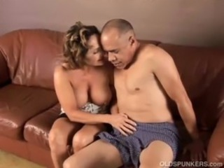 Gorgeous granny loves to make the beast with two backs coupled with eat cum free