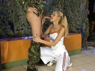 Army Blowjob European German Pigtail Teen