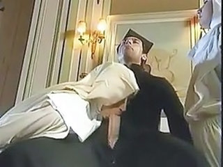 Blowjob European German Nun Threesome Vintage