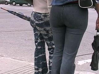 Candid Ass in Jeans 02 (+slow motion)