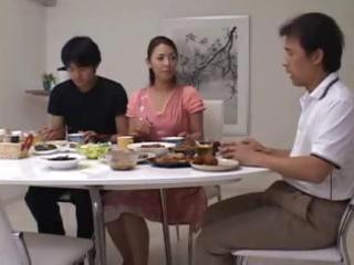 Asian Family Japanese Kitchen Threesome