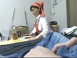 Japanese Teen Maid Forced Service