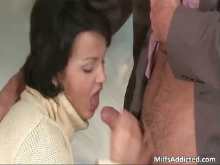 horny brunette lady takes rough dolf