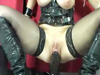 awesome busty lady    dildo act