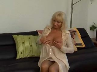 Russian mature mother gets a younger boy's cock