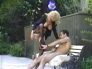 Big Tits  Outdoor Public Stockings Vintage