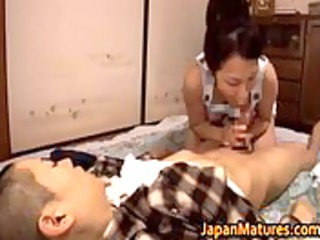 great looking japanese cougar licking