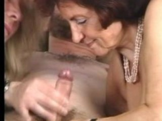 "Granny in Stockings Gets some Help"" target=""_blank"