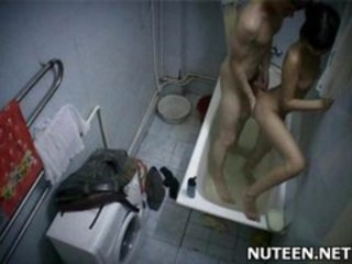 Asian Bathroom Doggystyle HiddenCam Teen Thai