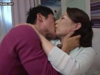 Asian Japanese Kissing Mature Old and Young
