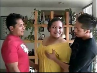 Chubby Latina Mature Threesome