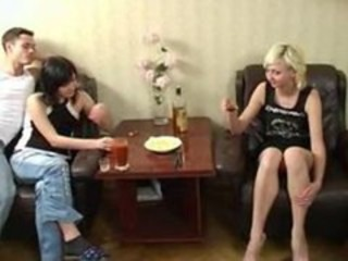 Drunk Homemade Russian Student Teen Threesome